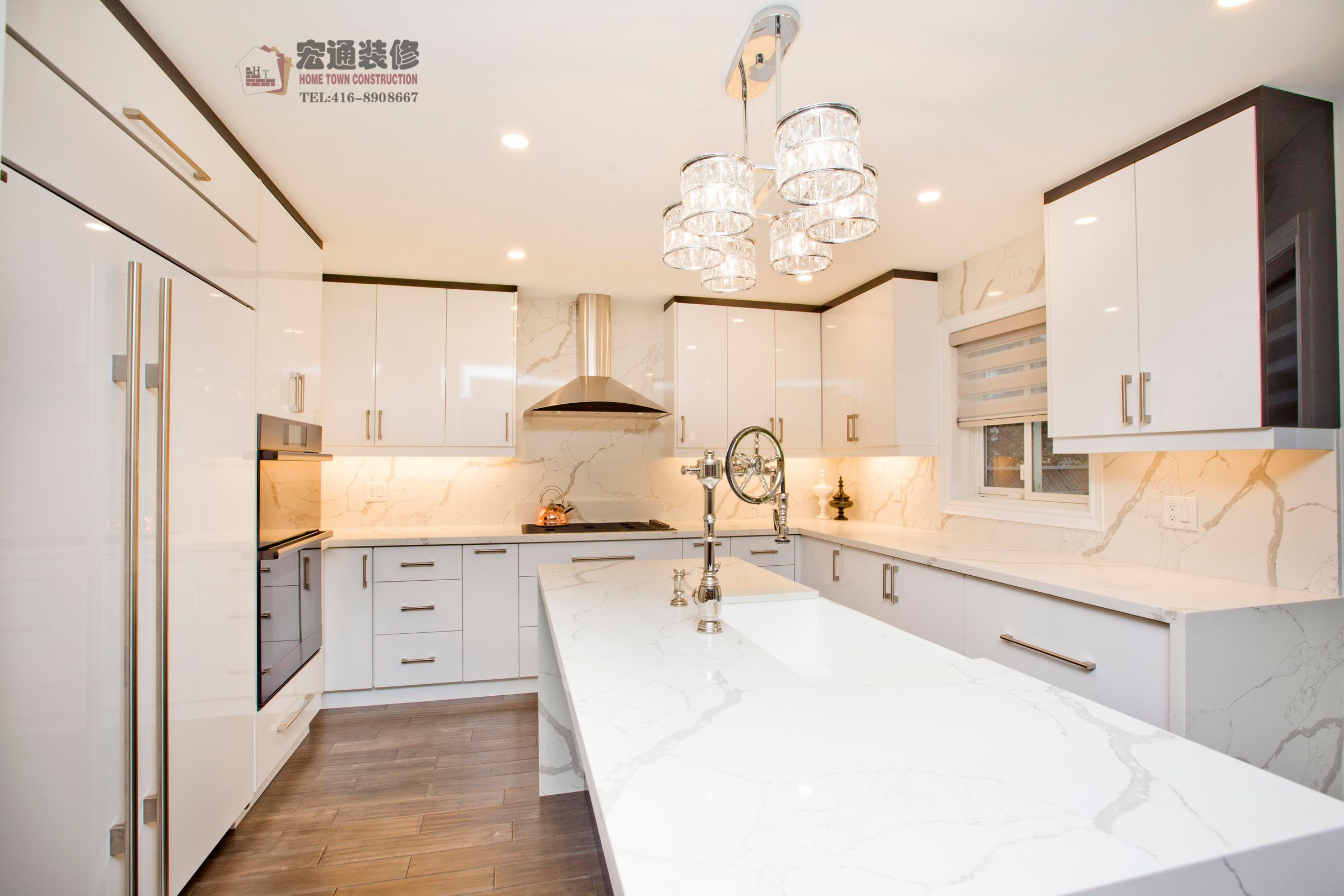 hometown construction remodeling renovation living room bedroom basement stair side door ceiling lighting flooring laundry bathroom kitchen toronto markham north york richmond hill aurora house condo